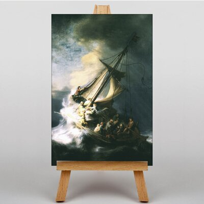 Big Box Art The Storm of the Sea of Galilee by Rembrandt Storm Art Print on Canvas