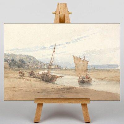 Big Box Art Near Honfleur by Richard Bonington Art Print on Canvas