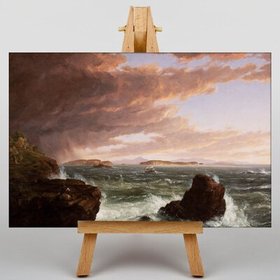 Big Box Art Views across Frenchmans Bay by Thomas Cole Art Print on Canvas