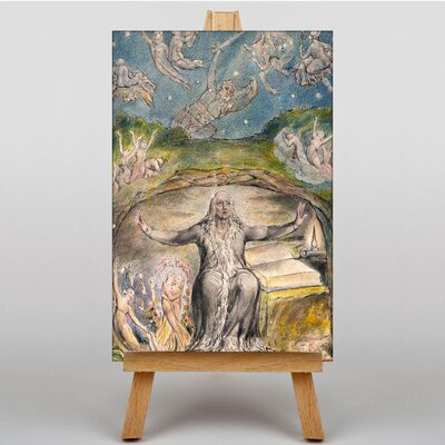 Big Box Art Milton in His Old Age by William Blake Art Print on Canvas