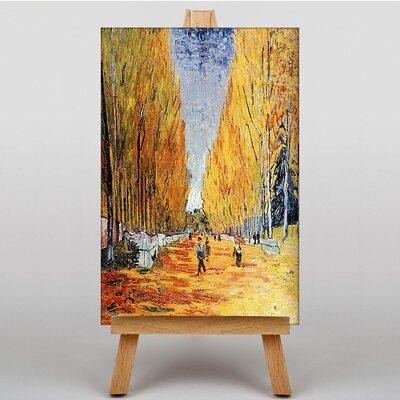 Big Box Art Tree Lined Path by Vincent Van Gogh Art Print on Canvas