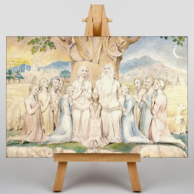 Big Box Art Job and His Family by William Blake Art Print on Canvas