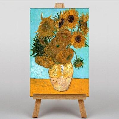 Big Box Art Twelve Sunflowers by Vincent Van Gogh Art Print on Canvas