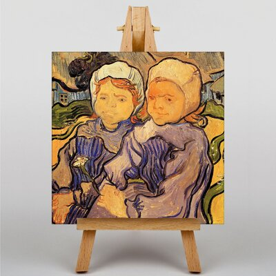 Big Box Art Two Children by Vincent Van Gogh Art Print on Canvas