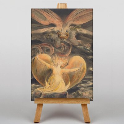 Big Box Art The Great Red Dragon by William Blake Art Print on Canvas