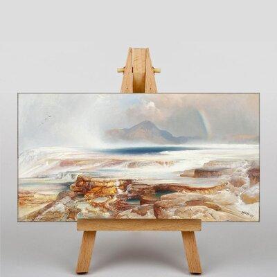 Big Box Art Hot Springs of the Yellowstone by Thomas Moran Art Print on Canvas