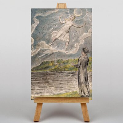 Big Box Art The Wandering Moon by William Blake Art Print on Canvas