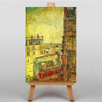 Big Box Art View of Paris from Vincents Room by Vincent Van Gogh Art Print on Canvas