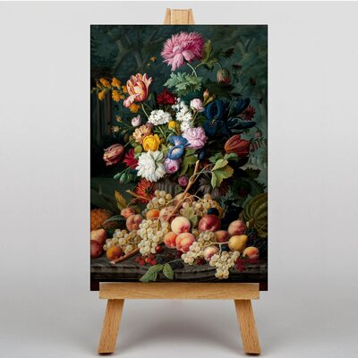 Big Box Art Life Flower Bouquet by Severin Roesen Art Print on Canvas