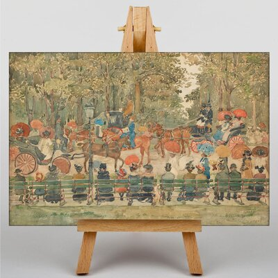 Big Box Art Maurice Pendergrast Central Park No.2 by Maurice Prendergast Art Print on Canvas