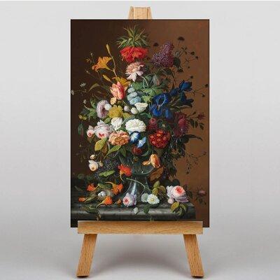 Big Box Art Still Life Flowers and Birds Nest by Severin Roesen Art Print on Canvas