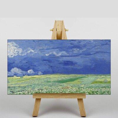 Big Box Art Wheatfield under Thunderclouds by Vincent Van Gogh Art Print on Canvas