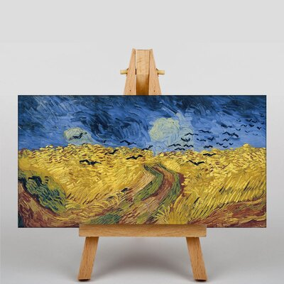 Big Box Art Wheatfield with Crows by Vincent Van Gogh Art Print on Canvas