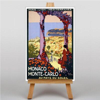 Big Box Art Monaco Monte-Carlo Vintage Advertisement on Canvas