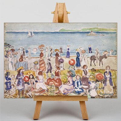 Big Box Art Revere Beach No.2 by Maurice Prendergast Art Print on Canvas