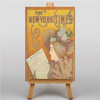 Big Box Art New York Times Vintage Advertisement on Canvas