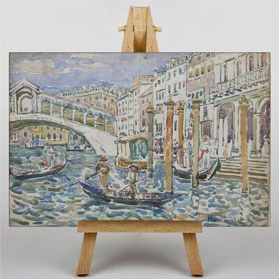 Big Box Art Maurice Pendergrast Rialto Venice by Maurice Prendergast Art Print on Canvas