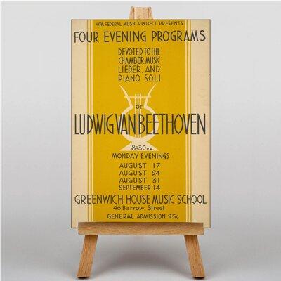 Big Box Art Ludwig Van Beethoven Vintage Advertisement on Canvas