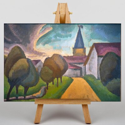 Big Box Art The Entrance to the Village by Roger de la Fresnaye Art Print on Canvas