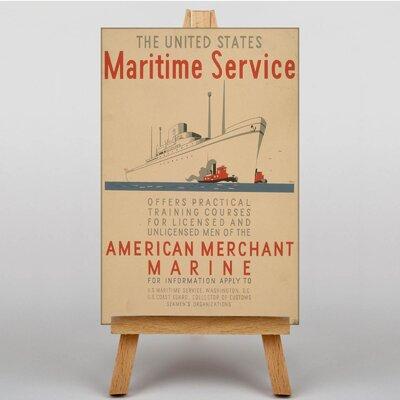 Big Box Art Maritime Service No.1 Vintage Advertisement on Canvas