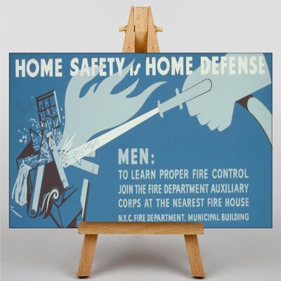Big Box Art Home Defense Vintage Advertisement on Canvas