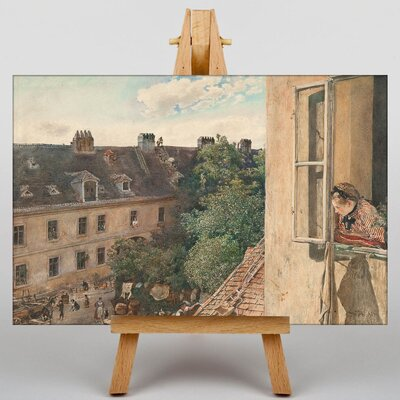 Big Box Art View of the Alservorstadt by Rudolf Von Alt Art Print on Canvas