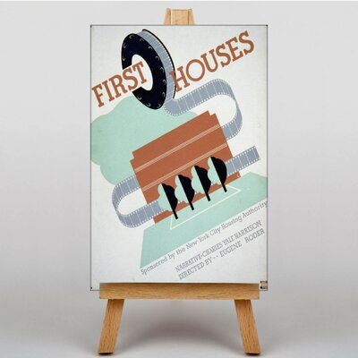 Big Box Art First Houses Vintage Advertisement on Canvas