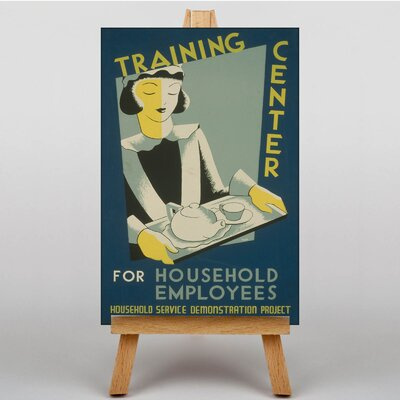 Big Box Art Household Employees Vintage Advertisement on Canvas