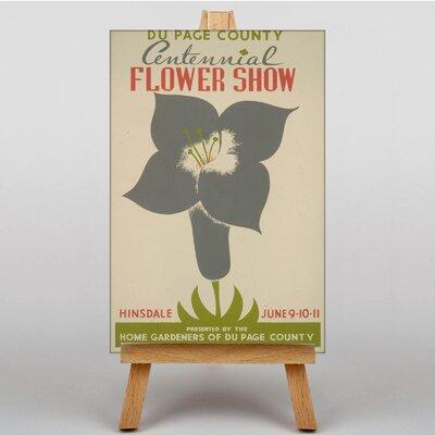 Big Box Art Flower Show Vintage Advertisement on Canvas