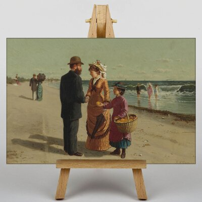 Big Box Art Meeting on the Beach by Samuel S. Carr Art Print on Canvas