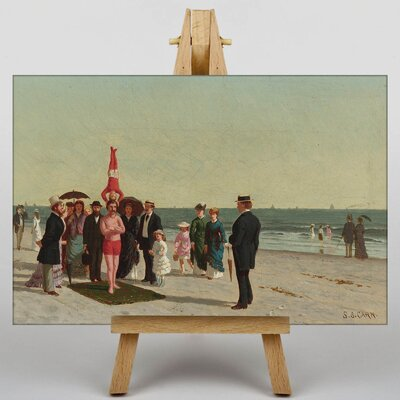 Big Box Art Performers on the Beach by Samuel S. Carr Art Print on Canvas