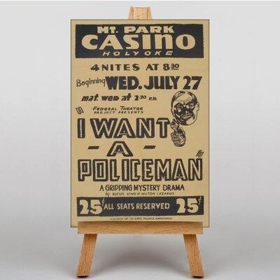 Big Box Art I Want a Policeman Vintage Advertisement on Canvas