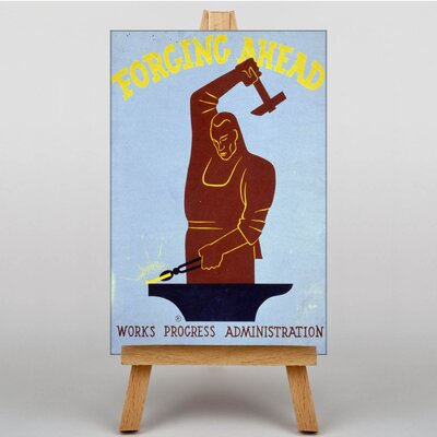 Big Box Art Forging Ahead Vintage Advertisement on Canvas