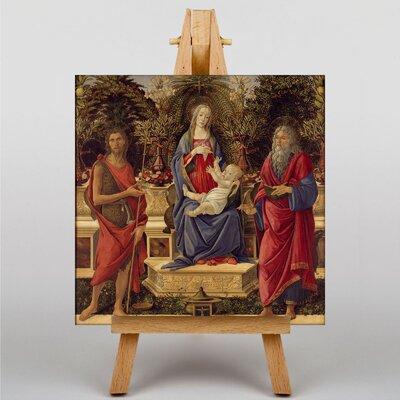 Big Box Art Madonna with Saints by Sandro Botticelli Art Print on Canvas