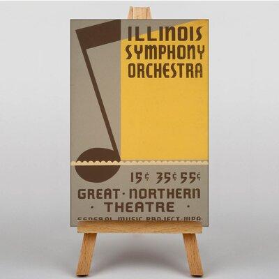 Big Box Art Illinois Symphony Orchestra Vintage Advertisement on Canvas