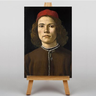 Big Box Art Portrait of a Young Man by Sandro Botticelli Art Print on Canvas