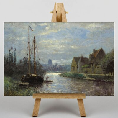 Big Box Art Canal by Stanislas Lepine Art Print on Canvas