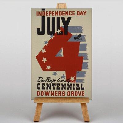 Big Box Art Independance Day Vintage Advertisement on Canvas