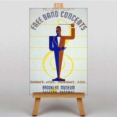 Big Box Art Free Band Concerts Vintage Advertisement on Canvas