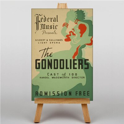 Big Box Art The Gondoliers Vintage Advertisement on Canvas