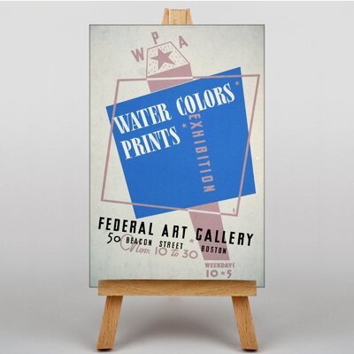 Big Box Art Water Colours No.3 Typography on Canvas