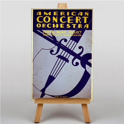 Big Box Art Concert Orchestra Vintage Advertisement on Canvas