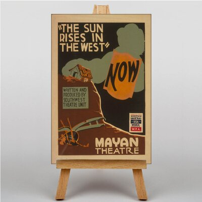 Big Box Art The Sun Rises in the West Vintage Advertisement  on Canvas