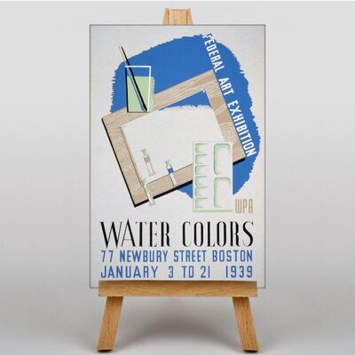 Big Box Art Water Colours Vintage Advertisement on Canvas