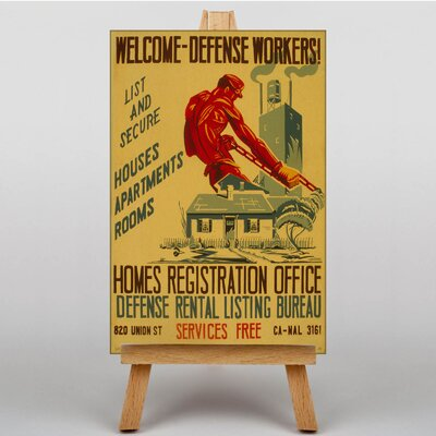 Big Box Art Welcome Home Defense Workers Vintage Advertisement on Canvas