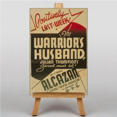 Big Box Art The Warrior's Husband Vintage Advertisement on Canvas