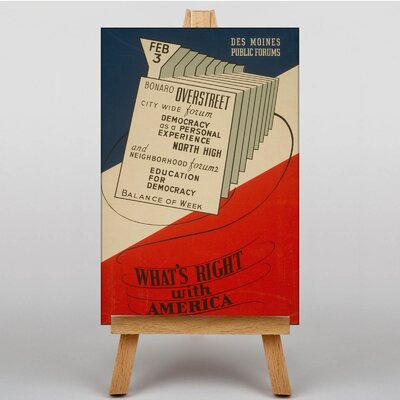 Big Box Art What's Right with America Vintage Advertisement on Canvas