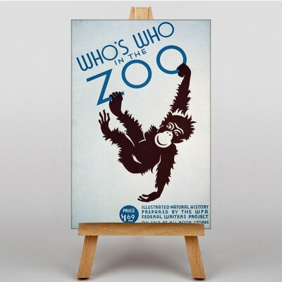 Big Box Art Who's Who in the Zoo Vintage Advertisement on Canvas
