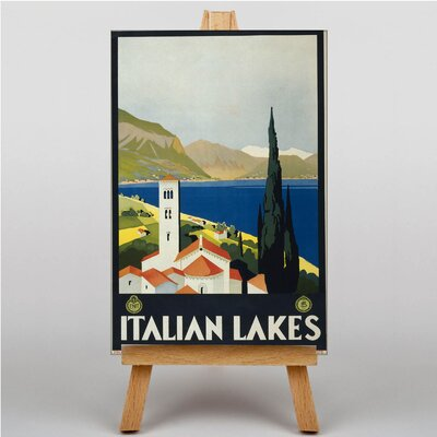 Big Box Art Italian Lakes Vintage Advertisement on Canvas