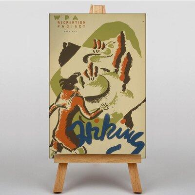 Big Box Art Hiking No.2 Vintage Advertisement on Canvas